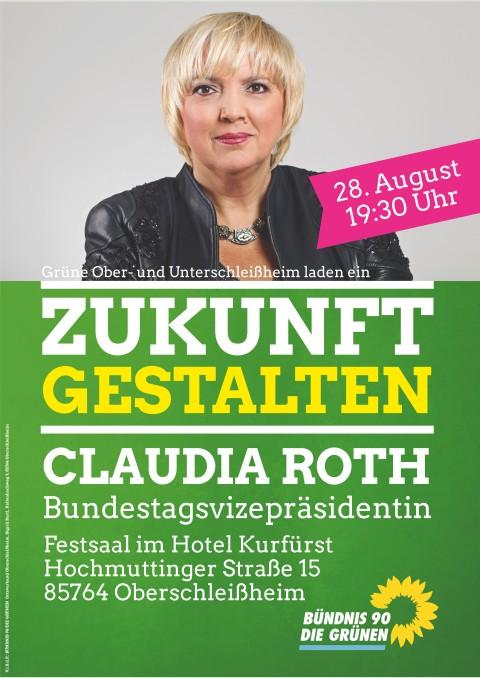 28.08.2017 Bundestagsvizepräsidentin Claudia Roth in Oberschleißheim