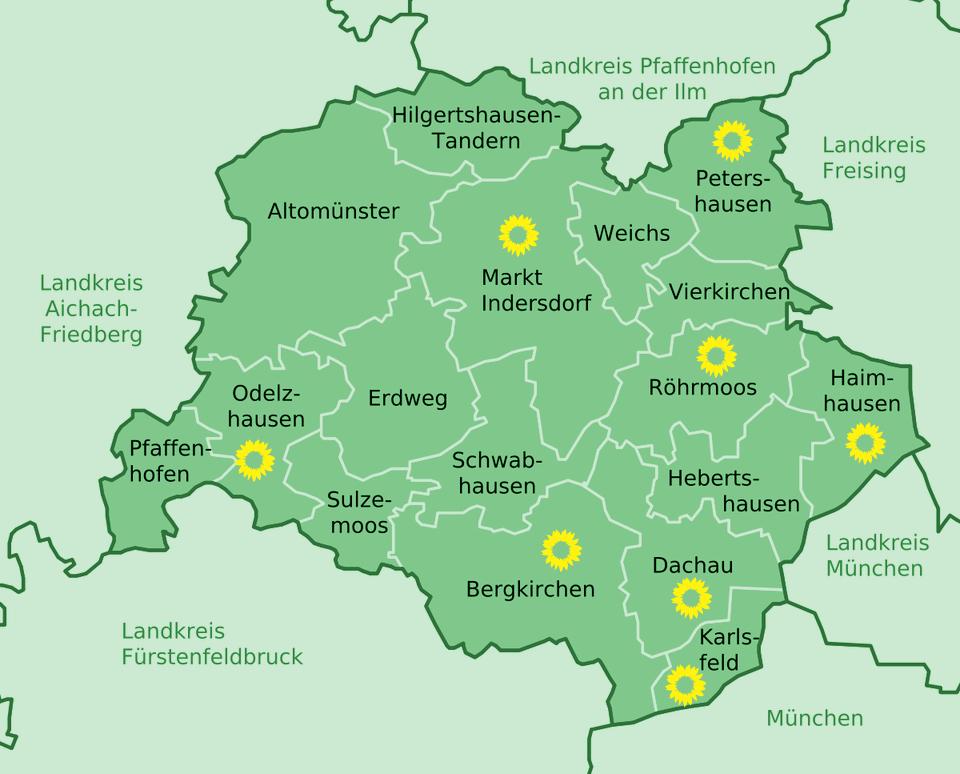 Ortsverbände im Landkreis Dachau