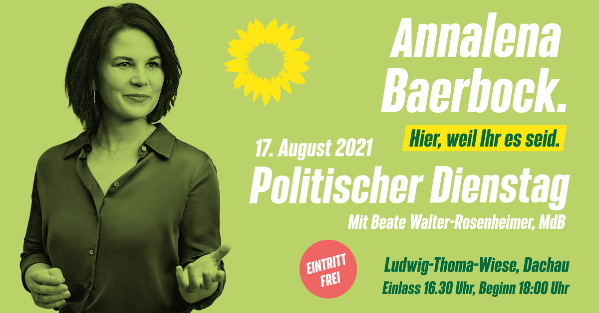 Annalena Baerbock kommt nach Dachau